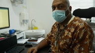 Dr Clement Edusa from the Ghana Sweden Medical Center in Accra, Ghana, Sept. 18, 2020. (Stacey Knott/VOA)
