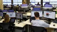 FILE - A general view of Facebook's elections operation center in Dublin, Ireland, May 2, 2019.