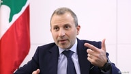 Gebran Bassil, a Lebanese politician and head of the Free Patriotic movement, talks during an interview with Reuters in Sin-el-fil, July 7, 2020.