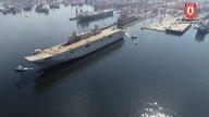 The construction of an assault air craft carrier is part of Turkey's major naval construction program.