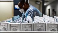 Biotechnology company Moderna protocol files for COVID-19 vaccinations are kept at the Research Centers of America in Hollywood…