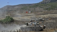 A handout picture released by the Turkish Armed Forces on September 7, 2020 shows soldiers riding atop a M48 Patton during a…