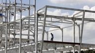 A man works at a construction site of a foreign invested project in Vietnam's southern financial hub Ho Chi Minh city, August…
