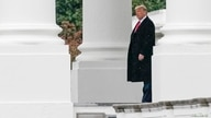 U.S. President Donald Trump departs on campaign travel for New Hampshire from the North Portico at the White House in…