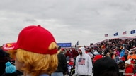 Supporters of U.S. President Donald Trump gather for a Trump re-election campaign rally in Waterford Township, Michigan.