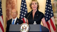 U.S. Ambassador to the United Nations Kelly Craft speaks during a news conference to announce the Trump administration's…