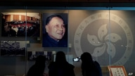 "A portrait of former Chinese leader Deng Xiaoping is displayed at the exhibition ""The Hong Kong Story"" in the Hong Kong Museum of History, Oct. 16, 2020."