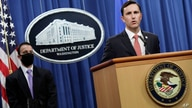 Acting Assistant Attorney General Brian Rabbitt, of the Justice Department's Criminal Division and other officials, speak,…