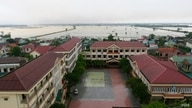 A view of Quang Tri from a hotel rooftop.