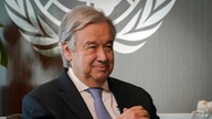 FILE - United Nations Secretary-General Antonio Guterres is seen during an interview, at U.N. headquarters in New York, Oct. 21, 2020.