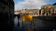 "FILE - A road signs reads ""Beware of Traffic from Right,"" in Edinburgh, Scotland. Disgruntlement over Brexit and the coronavirus pandemic are breathing new life into the push for Scottish independence."