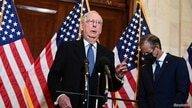 U.S. Senate Majority Leader Mitch McConnell (R-KY) speaks after the Senate Republican GOP leadership election on Capitol Hill.
