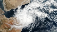 Cyclone Gati seen over Ras Hafun, Somalia November 22, 2020. Picture taken November 22, 2020. NASA Earth Observatory/Handout…