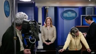 White House Deputy Communications Director Jen Psaki is interviewed in the James Brady Press Briefing Room at the White House…