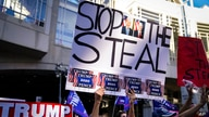 President Donald Trump supporters gather with some signs claiming a stolen election outside the Philadelphia Convention Center…