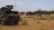 A light armored vehicle (LAV) of the French force of the counter-terrorism Barkhane mission in Africa's Sahel region Barkhane…