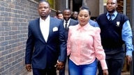 Bushiri (left) and his wife Mary walks into the court in South africa