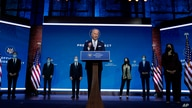 President-elect Joe Biden and Vice President-elect Kamala Harris introduce their nominees and appointees to key national security and foreign policy posts at The Queen Theater, in Wilmington, Delaware, Nov. 24, 2020.