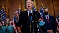 Senate Majority Leader Mitch McMcConnell of Ky., speaks to reporters on Capitol Hill in Washington, Tuesday, Dec. 1, 2020. …