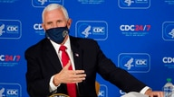 Vice President Mike Pence speaks during a briefing on COVID-19 at the Centers for Disease Control and Prevention Friday, Dec. 4…