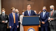 U.S. Senator Mitt Romney (R-UT) speaks as bipartisan members of the Senate and House gather to announce a framework for fresh COVID-19 relief legislation at a news conference on Capitol Hill in Washington, Dec. 1, 2020.