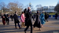 U.S. President Joe Biden and first lady Jill Biden receive Presidential Escort to the White House.