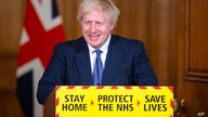 Britain's Prime Minister Boris Johnson speaks during a media briefing on COVID-19, in Downing Street, London, Friday Jan. 15,…