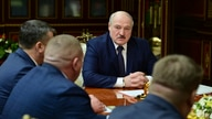 Belarusian President Alexander Lukashenko attends a meeting with top officials in Minsk, Belarus, Tuesday, Jan. 26, 2021. …