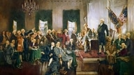 Howard Chandler Christy's Scene at the Signing of the Constitution of the United States (Public Domain)