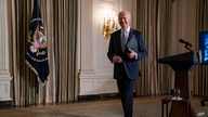 President Joe Biden leaves after presiding over a virtual swearing-in ceremony of political appointees from the State Dining Room of the White House, in Washington,  Jan. 20, 2021.