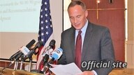 FILE - Ambassador Michael Raynor speaks at an event in Addis Ababa, Ethiopia, Dec. 10, 2018. (U.S. Embassy in Ethiopia)