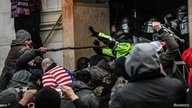"Supporters of U.S. President Donald Trump clash with police at the west entrance of the Capitol during a ""Stop the Steal"" protest outside of the Capitol building in Washington D.C., Jan. 6, 2021."