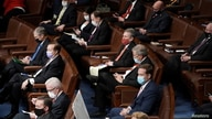 House Republicans attend a reconvened joint session of Congress to certify the Electoral College votes of the 2020 presidential…