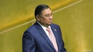 FILE PHOTO: Myanmar's Foreign Minister Wunna Maung Lwin arrives to address attendees during the 70th session of the United…