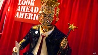 A statue of former president Donald Trump on display at the merchandise show at the Conservative Political Action Conference …