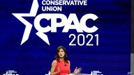 South Dakota Gov. Kristi Noem speaks at the Conservative Political Action Conference (CPAC) Saturday, Feb. 27, 2021, in Orlando…
