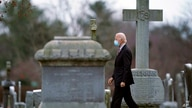 FILE - Then U.S. President-elect Joe Biden departs the St. Joseph on the Brandywine Catholic Church in Wilmington, Delaware, Jan. 16, 2021.