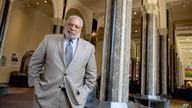Lonnie Bunch, founding director of the Smithsonian's National Museum of African American History and Culture, poses for a photograph at the Smithsonian Castle in Washington, May 28, 2019.