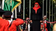 New Tanzanian President Samia Suluhu Hassan, inspects a military parade following her swearing in the country's first female…