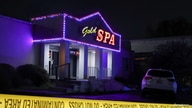 Crime scene tape surrounds Gold Spa after deadly shootings at a massage parlor and two day spas in the Atlanta area, in Georgia.