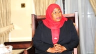 Tanzania's new President Samia Suluhu Hassan is seen after taking oath of office following the death of her predecessor John…