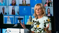 First lady Jill Biden speaks at the 2021 International Women of Courage (IWOC) Award virtual ceremony hosted by Secretary of…