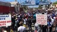 Thousands participate in peaceful protest organized by Protestant sector to denounce dictatorship and kidnappings, Feb. 28, 2021. (VOA/Matiado Vilme)