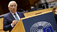 Portugal's Prime Minister Antonio Costa addresses European lawmakers during the signing ceremony to officially launch the Conference of the Future of Europe at the European Parliament in Brussels, Belgium, March 10, 2021.