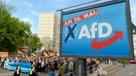 FILE - AfD supporters walk in Erfurt, Germany, May 1, 2019.