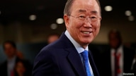 FILE - Former United Nations Secretary General Ban Ki-moon in New York, September 24, 2019.