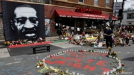 "A view of George Floyd Square before the start of the ""Black & Yellow"" Asian solidarity rally dedicated to Daunte Wright."