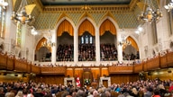 President Barack Obama addresses the Canadian Parliament in the House of Commons in Ottawa, Wednesday, June 29, 2016. (AP Photo…