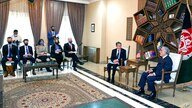 Abdullah Abdullah, Chairman of the High Council for National Reconciliation, right, meets with U.S. Secretary of State Antony…