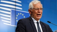 European Union foreign policy chief Josep Borrell addresses a media conference at the European Council building in Brussels, Belgium, April 19, 2021.